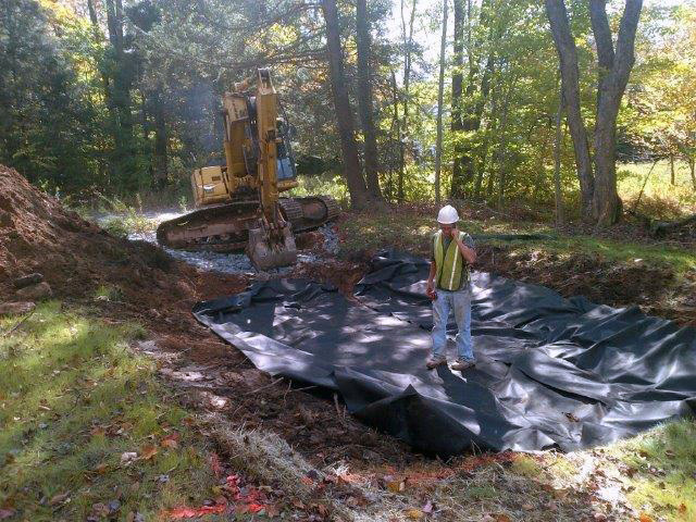 Drainage and erosion control work