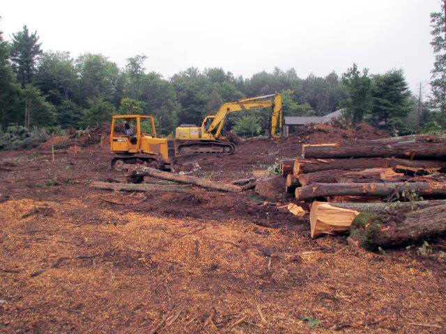 Clearing the lot for Dollar General in Blakeslee