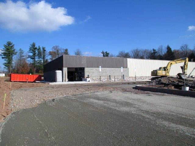 Preparing for parking lot and entranceway paving