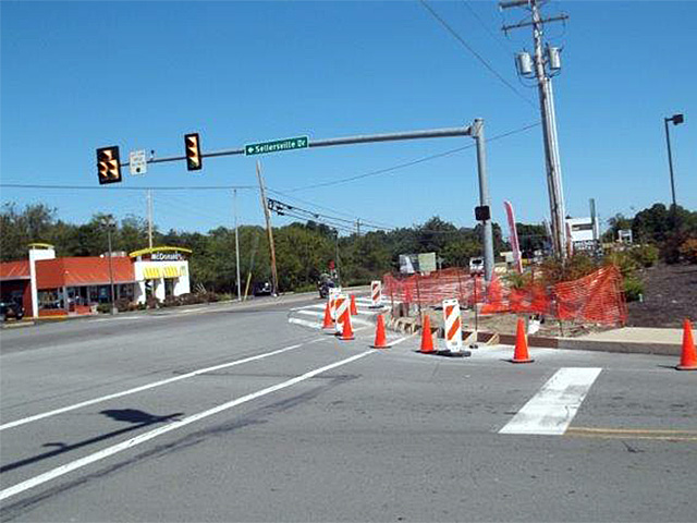 PennDOT Highway Occupancy Permitted (HOP) work on US Route 209