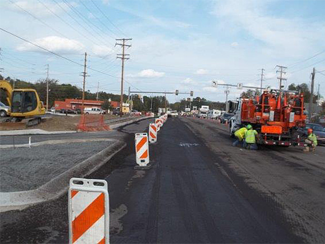 Work on U.S. Route 209